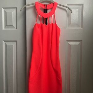 Charolette Russe Neon Pink Party Dress